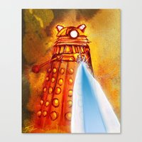 dalek Canvas Prints featuring Dalek by Tony DaBronzo