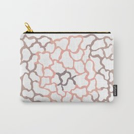abstract shades of brown Carry-All Pouch