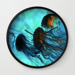 Jellyfish of the Under Sea Volcano Wall Clock
