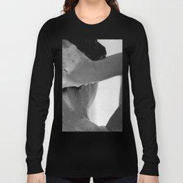 Woman Showering, 35mm Film, B&W Long Sleeve T-shirt