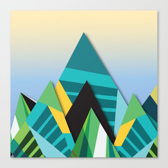 Cosmic Mountains No. 2 Canvas Print