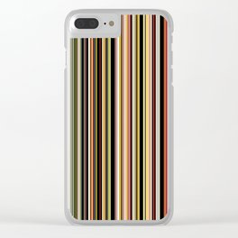 Old Skool Stripes - The Dark Side Clear iPhone Case