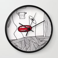 toilet Wall Clocks featuring toilet by DAMlab