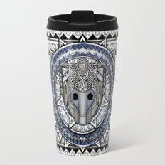 Aztec Cyberman Tardis Doctor who pencils sketch Travel Mug
