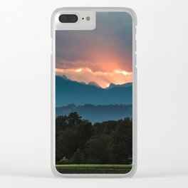 Last rays of sun before sunset Clear iPhone Case