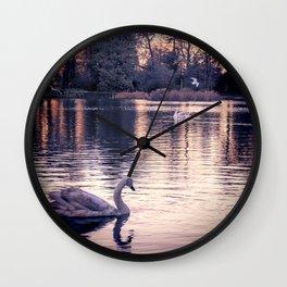 Swan Lake 2 Wall Clock