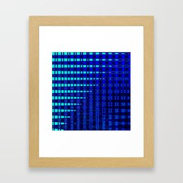 Blue in Shadows Framed Art Print