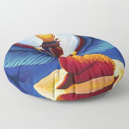 Isis Egyptian Goddess Floor Pillow