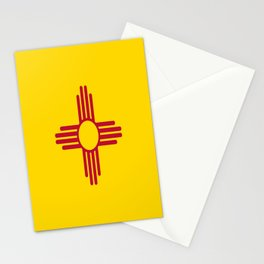 flag new mexico-usa,america,sun,Zia Sun symbol,New Mexican,Albuquerque,Las Cruces,santa fe,roswell Stationery Cards