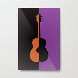 Acoustic Guitar Jazz Rock n Roll Classical Music Mid Century Modern Minimalist Abstract Geometrical Metal Print