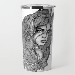 IN THE COMPANY OF WOLVES Travel Mug