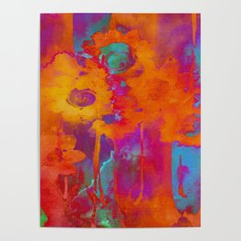 bright abstract bouquet Poster