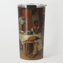 A Pastoral Visit, by Richard Norris Brooke, 1881 . An African American family Travel Mug