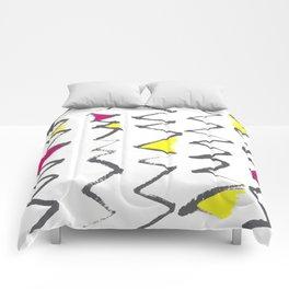 Zig Zag red yellow Comforters