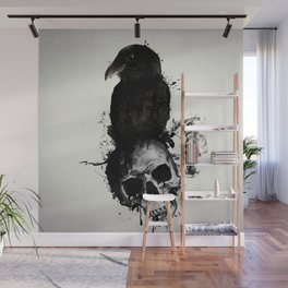Raven and Skull Wall Mural