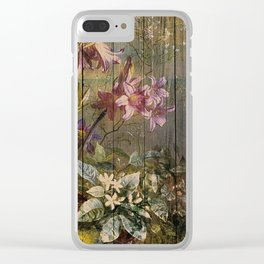 Old master on woodpanel Clear iPhone Case