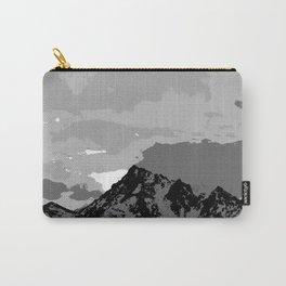 Chugach Mountains - B & W Pop Art Carry-All Pouch