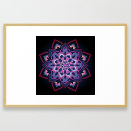 mandala shade of purple Framed Art Print