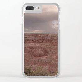 Desert Rain Clouds Clear iPhone Case