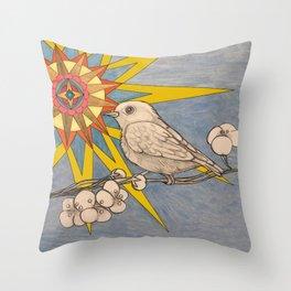 sunbird Throw Pillow
