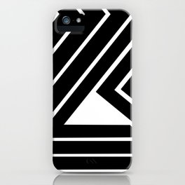 Modern Me Plain Black iPhone Case