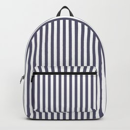 vertical stripes, art blue and white Backpack
