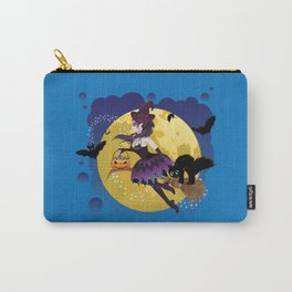 Cartoon witch flying Carry-All Pouch