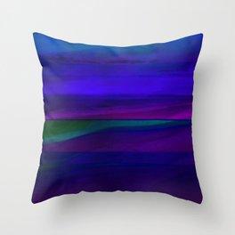 Seascape At Night Throw Pillow