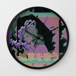 is this vaporvvave Wall Clock