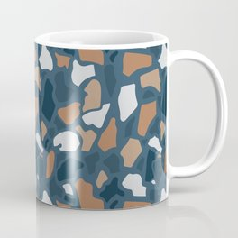 Abstract Terrazzo - Dark Blue Coffee Mug