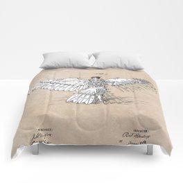 patent art Spalding Flying Machine  1889 Comforters