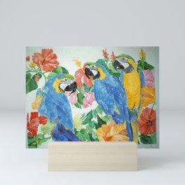 Blue & Gold Macaws Mini Art Print
