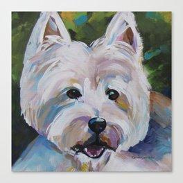 Westie Impressionism Pet Portrait Larsen 1 Canvas Print