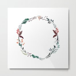 Flower Wreath Metal Print