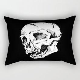 Skull Sketch Rectangular Pillow
