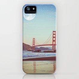 Golden Gate Moonrise | Golden Gate Bridge | Night Sky iPhone Case