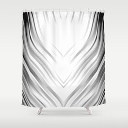 stripes wave pattern 3 bwi Shower Curtain