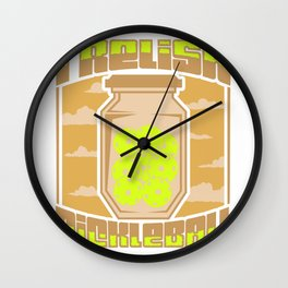 Pickleball Picklers Pun design Funny Pickleball Master Gift Wall Clock