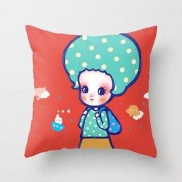 a little travel Throw Pillow