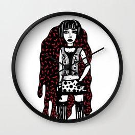 Designer T-Shirt EMO Illustration Wall Clock