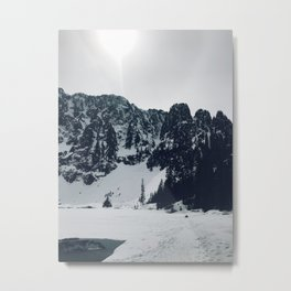 Lake 22 in Snow Metal Print