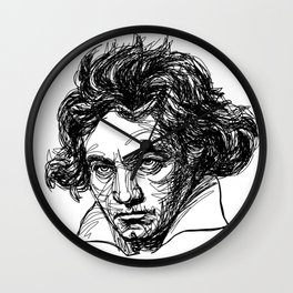 Ludwig Van Beethoven line drawing Wall Clock