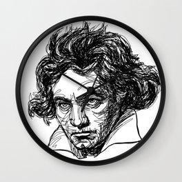 Ludwig Van Beethoven line drawing Wall Clock