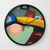 community Wall Clocks featuring the community by sylvie demers