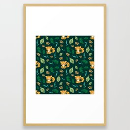 Cute Tiger Print Framed Art Print