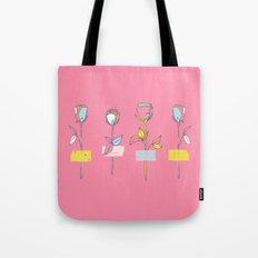 Rosewall (on pink) Tote Bag