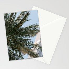 Palm tree below the Burj Khalifa in Dubai   Travel photography art print photo Stationery Cards