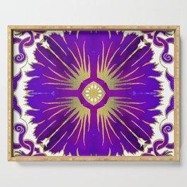 Azulejos - Portuguese Tiles Purple Serving Tray