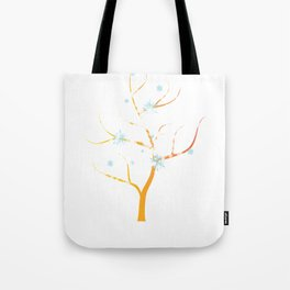 Winter Tree Winter Season Tote Bag