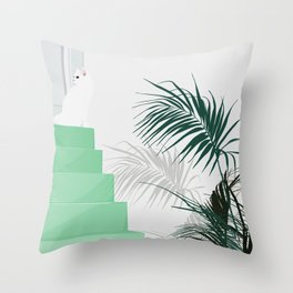 House of the cat Throw Pillow